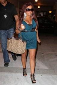 Supposedly Coach sent Snooki a Gucci bag so she would no longer carry Coach. Photo by Pacifc Coast News