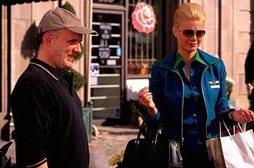 Director Bruno Barreto and Gwyneth Paltrow on the set of Miramax's View From The Top