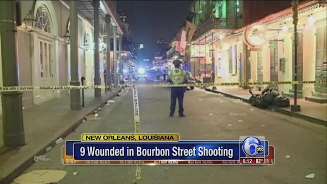 Suspects sought after 9 shot on Bourbon Street