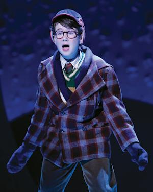 "In this theater image released by Keith Sherman & Associates, Clarke Hallum portrays Ralphie in a scene from ""A Christmas Story, The Musical."" (AP Photo/Keith Sherman & Associates, Carol Rosegg)"