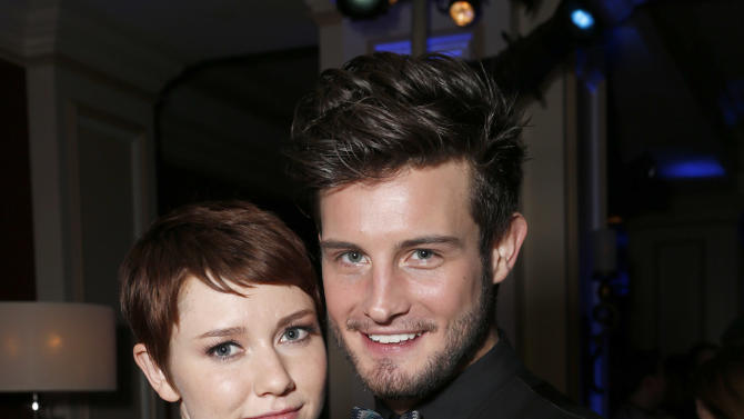 Valorie Curry and Nico Tortorella attend the Fox Winter TCA All Star Party at the Langham Huntington Hotel on Tuesday, Jan. 8, 2013, in Pasadena, Calif. (Photo by Todd Williamson/Invision/AP)