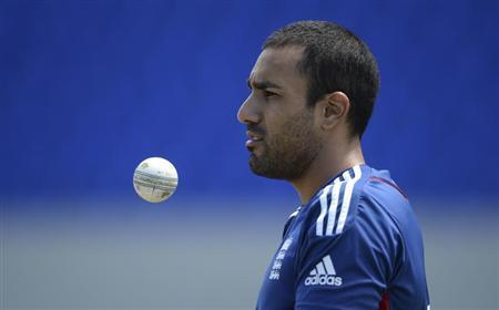 England's Bopara looks on during a training session before the third one-day international cricket match against the West Indies' at North Sound, Antigua