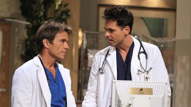 Scott Reeves and Jason Thompson in a scene from 'General Hospital' -- Getty Images