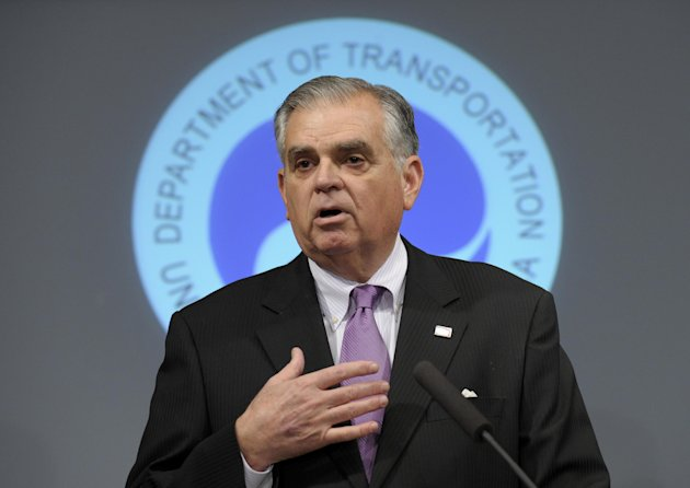 Transportation Secretary Raymond LaHood speaks during a news conference at the Transportation Department in Washington, Friday, Jan. 11, 2013,  to discuss a comprehensive review of Boeing 787 critical