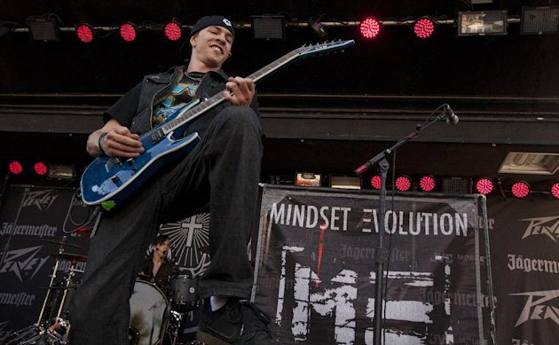 Bradley Prentice of Mindset Evolution performs at Rock on the Range on Friday, May 17, 2013 in Columbus, Ohio. (Photo by Barry Brecheisen/Invision/AP Photo)
