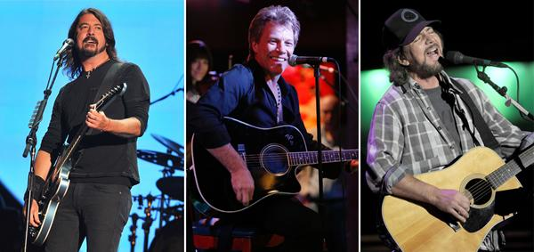 Bon Jovi, Dave Grohl and Eddie Vedder Added to '12-12-12' Lineup