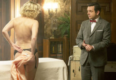 Nicholle Tom and Michael Sheen | Photo Credits: Peter Iovino/Showtime