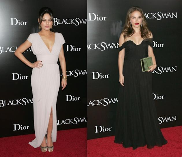 Mila and Natalie at the Black Swan premiere