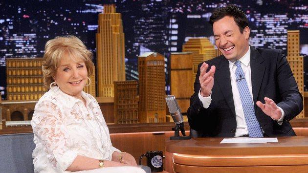 Barbara Walters on 'The Tonight Show' on June 11, 2014 -- Getty Images