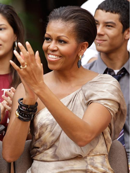 Michelle Obama attends cultural performances in Brasilia, Brazil, March 19, 2011.