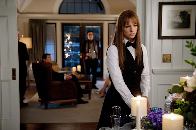 "In this publicity image released by ABC, Emily VanCamp is shown in a scene from the May 9, 2012 episode of the ABC series, ""Revenge."" ABC is conducting an experiment for the season finale of ""Revenge"" with an app that makes it easier for viewers to conduct ""second screen"" activities like talking about the show on Facebook and Twitter. The network is interested in seeing if this might make more people watch shows when they air rather than on DVRs. (AP Photo/ABC, Colleen Hayes)"