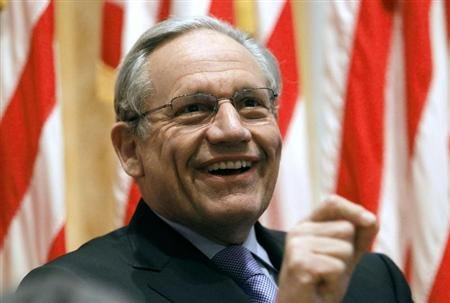 Bob Woodward, a former Washington Post reporter, discusses about the Watergate Hotel burglary and stories for the Post at the Richard Nixon Presidential Library in Yorba Linda, California April 18, 2011. REUTERS/Alex Gallardo