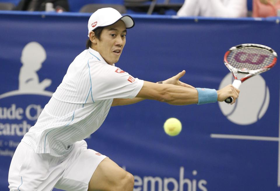 Nishikori rallies to reach semis in Memphis
