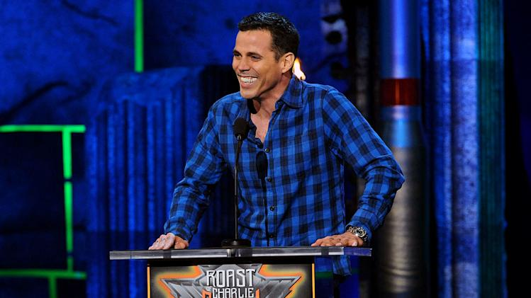 TV personality Steve-O speaks onstage at Comedy Central's Roast of Charlie Sheen.