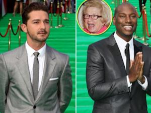 Shia LaBeouf, Tyrese Gibson, inset: Dr. Ruth -- Getty Images