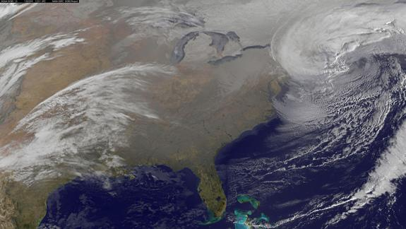 Birth of Monster Blizzard Seen from Space (Video)