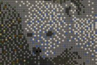 "This photo taken Feb. 19, 2013 shows a mural made of Lego toys during a media preview of ""Nordic Cool,"" an international festival being held at the Kennedy Center in Washington. More than 700 artists from Denmark, Finland, Iceland, Norway and Sweden, as well as Greenland, the Faroe Islands and the Aland Islands will present their work in theater, dance, music, visual arts, design, film, architecture and cuisine. (AP Photo/Jacquelyn Martin)"