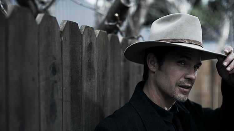 "Timothy Olyphant stars as Raylan Givens in ""Justified."""