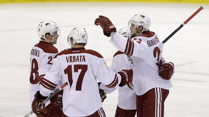 Vrbata leads Coyotes to 3-1 win over Panthers