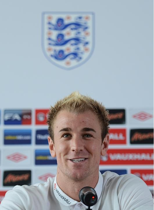 English Goalkeeper Joe Hart Speaks AFP/Getty Images