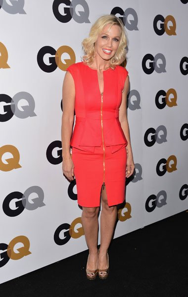 Jennie Garth: The 40-year-old former &quot;Beverly Hills 90210&quot; star looks radiant in a peplum style red dress at the GQ Men of the Year Party on Nov. 13, 2012. But forget being modest; the star takes a ri