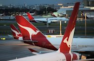Qantas planes are seen on the tarmac at Sydney International Airport, on June 12. Qantas chief executive Alan Joyce has ruled out an equity raising despite the embattled airline&#39;s flailing share price, but is preparing a high-level team to ward off any possible hostile takeovers