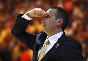 Maccabi Electra Tel Aviv coach Blatt looks on during the match against Real Madrid in their Euroleague Final Four final basketball game in Milan