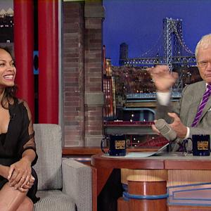 Zoe Saldana: It's Not Easy Being Green - David Letterman