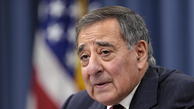 FILE - In this Feb. 13, 2013, file photo, Defense Secretary Leon Panetta speaks during his last news conference as defense secretary at the Pentagon in Washington. Republicans and other fiscal conservatives keep insisting on more federal austerity and a smaller government. Without much fanfare or acknowledgement, they've already gotten much of both. (AP Photo/Susan Walsh, File)