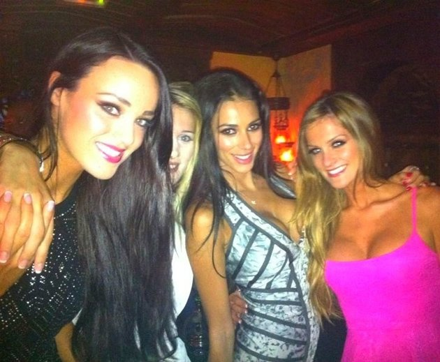 Georgia Salpa on a girls night out
