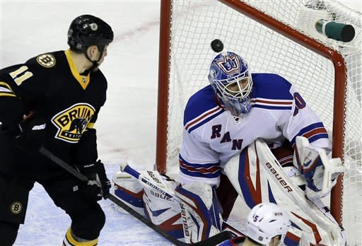 Rangers beat Bruins in SO despite blowing 3-0 lead