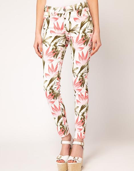 Oasis Tropical Print Jeans, $42.22 at Asos.com