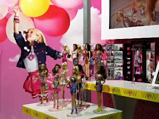 Mattel's new line-up, on display at Toy Fair, for Barbie includes a Dream Closet playset.