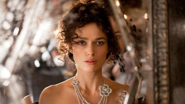 """FILE - This film publicity image released by Focus Features shows Keira Knightley in a scene from """"Anna Karenina."""" (AP Photo/Focus Features, Laurie Sparham, File)"""