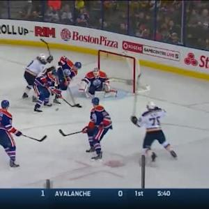 Ben Scrivens Save on Jay Bouwmeester (13:58/1st)