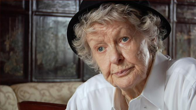 "This film image released by the Tribeca film Festival shows Elaine Stritch in a scene from ""Elaine Stritch: Shoot Me,"" a film that will be shown at the Tribeca Film Festival running April 17 through April 28, 2013 in New York. (AP Photo/Tribeca Film Festival)"