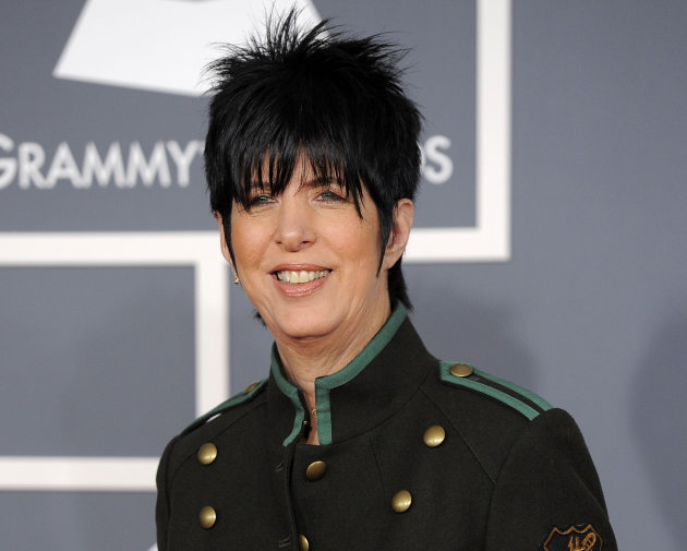 "FILE - This Feb. 12, 2012 file photo shows songwriter Diane Warren arriving at the 54th annual GRAMMY Awards in Los Angeles. Warren, who wrote the ballad ""I Was Here"" for Beyonce's latest album ""4,"" s"