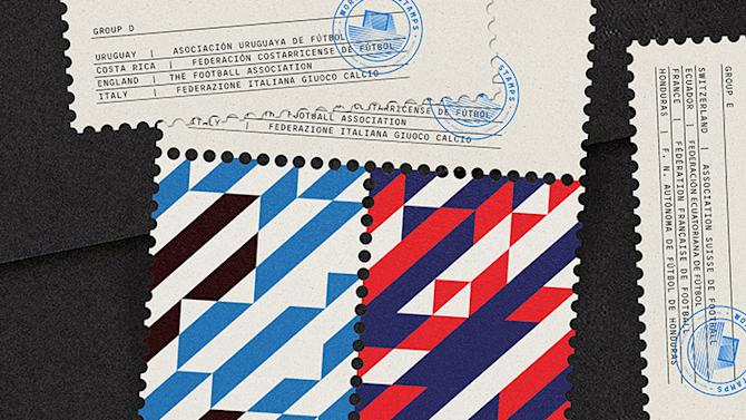 World Cup Stamps by MAAN Design Studio