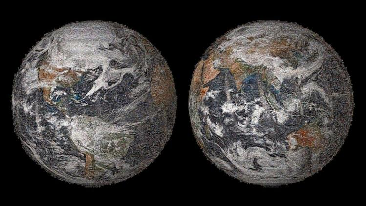 NASA Releases Photo of Earth Consisting of Selfies