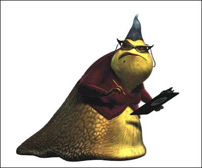 Roz ( Bob Peterson ) in Disney's Monsters, Inc.