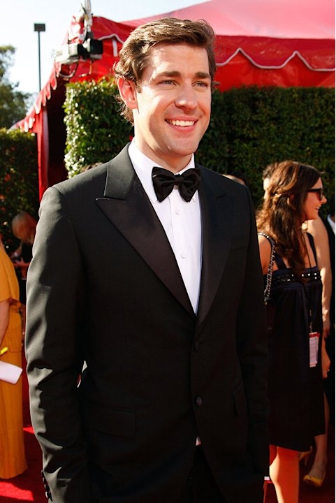 John Krasinski arrives at the 59th Annual Primetime Emmy Awards at the Shrine Auditorium on September 16, 2007 in Los Angeles, California.