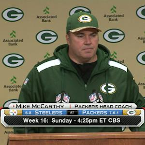 Mike McCarthy on Aaron Rodgers: Decision will be made on Friday