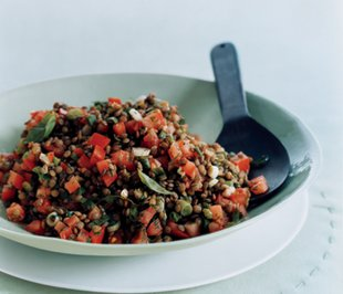 Lentil Salad with Tomato and Dill, Gourmet/Yanes, Romulo A