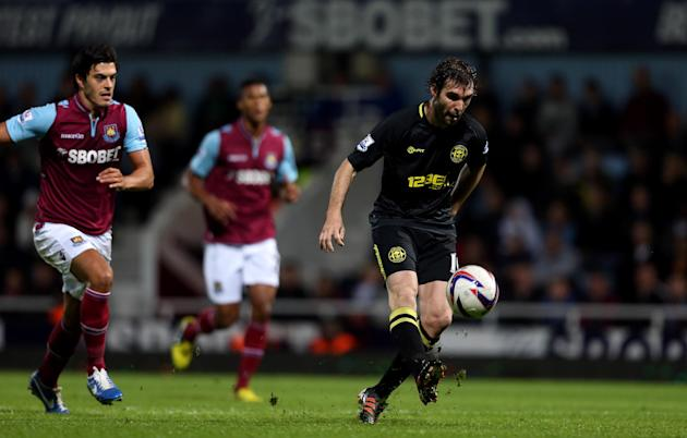 Mauro Boselli, right, scored a brace as Wigan defeated West Ham