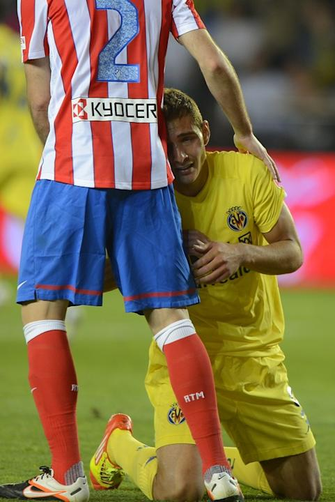 Villarreal's Argentinian Forward Marco Ruben Reacts AFP/Getty Images