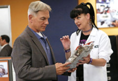 Mark Harmon, Pauley Perrette | Photo Credits: Cliff Lipson/CBS
