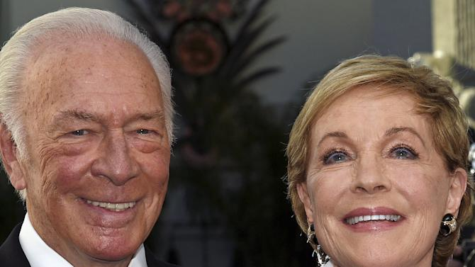 "Cast members Plummer and Andrews pose during the 50th anniversary screening of ""The Sound of Music"" at the opening of the 2015 TCM Classic Film Festival in Los Angeles"
