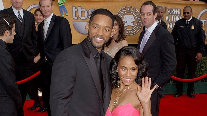 Jada Pinkett Smith and Will Smith at the 13th Annual Screen Actors Guild Awards.
