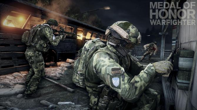 "This product image provided by Electronic Arts shows action from the video game ""Medal of Honor: Warfighter."" Seven members of the secretive Navy SEAL Team 6, including one involved in the mission to kill Osama bin Laden, have been punished for allegedly divulging classified information to the maker of the game, senior Navy officials said Thursday, Nov. 8, 2012. (AP Photo/Electronic Arts)"