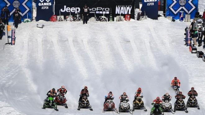 The Snowmobile Snocross at the Winter X Games in Aspen, Colo., on Jan. 27